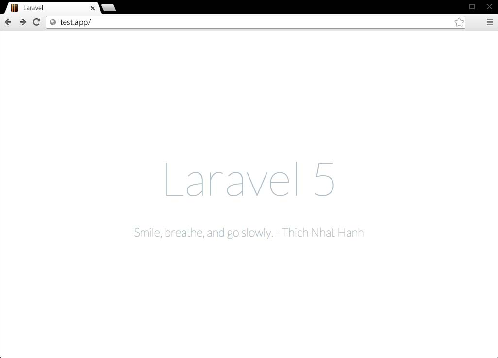 Default Laravel Page